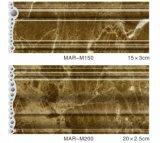 Profili di modellatura solidi di marmo del PVC a rivestimento variopinto UV per Wall/TV/Door Fram