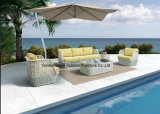 Mobília ao ar livre do sofá moderno luxuoso do Rattan