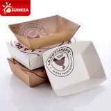 Het beschikbare Dienblad van Kraftpapier van het Document Grote voor Voedsel