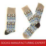 Socke der Männer mit glücklicher Socken-Art (UBM1040)