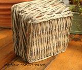 Qaubrate Natural Storage Wicker Basket, Good para Stay Plant.