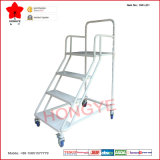 Climbing métallique Step Ladder Truck avec Four Wheels (OW-LD1)