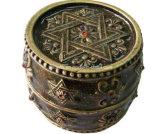 Boîte de bijoux en métal, boîte de bijoux de 4 compartiments