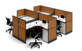 Furniture contemporaneo 2 Seater Office Workstation con Glass Partition