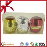 Изготовленный на заказ цветастое яичко тесемки с ясной пластичной коробкой для рождества