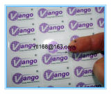 Le collant transparent d'étiquette adhésive peut être personnalisé