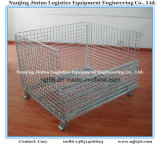 Wire Mesh Pallet Cage Warehouse Storage를 위한 Foldable & Stackable