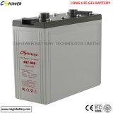 Bateria profunda do gel da bateria solar 2V 800ah do ciclo da longa vida