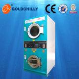Dessiccateur à jetons de rondelle de gaz de machine de blanchisserie d'individu 10+10 kilogrammes