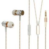 Mobile Phoneのための方法TPE Round Cable Metal Stereo Earphone