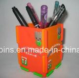 Держатель карандаша PVC Cuboid коробки форменный резиновый мягкий