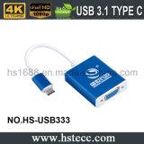 VGAのコンバーターへの高品質USB 3.1のタイプCの男性