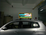 Parte superiore esterna impermeabile variopinta LED del tassì P5 che fa pubblicità alla visualizzazione