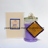 Candele di vetro profumate uniche del vaso in contenitore di regalo