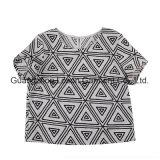 Camiseta corta baja de la gasa de las señoras de las mujeres de la muchacha de la funda