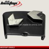 Блок скрепления металла HTC конкретный меля с этапом диаманта полируя