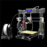 2016 새 버전 Fdm 급속한 시제품 2 바탕 화면 DIY Fdm 투명한 3D 인쇄 기계