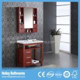 Vanidad clásica de la depresión del cuarto de baño del corte limpio americano del estilo con la barra de toalla (BV164W)