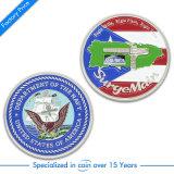 Pièce de monnaie faite sur commande d'enjeu du logo 3D de souvenir de forme de couples