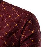 Chemises de robe teintes par filé fait sur commande en gros de mode (A437)