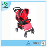 Adjustable Backrest Big Basket (SH-B10)를 가진 간단한 Foldable Baby Stroller