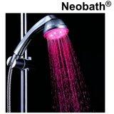 Cabeça de chuveiro colorida por atacado do chuveiro da mão do diodo emissor de luz da economia da água clara