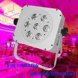 Weißer Radioapparat des Gehäuse-7X15W Rgbaw herauf LED-NENNWERT Licht