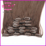 Doppia clip della trama 200g in clip non trattata di estensioni dei capelli umani di estensione dei capelli nelle estensioni dei capelli per le donne di colore
