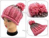 Девушки женщин крышки шлема зимы ведра края руки свернутые Knit