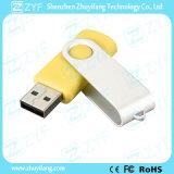 Logotipo de encargo del regalo del adminículo amarillo de la torcedura de 8 GB USB Drive (ZYF1816)