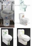 One-Piece WC Ceramic Toilet Bathroom Water Closet (A-037)
