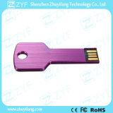 A prueba de agua púrpura de aluminio del metal forma de la llave de memoria USB (ZYF1734)