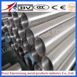 Pipe extérieure lumineuse 304L d'acier inoxydable d'ASTM pour la balustrade
