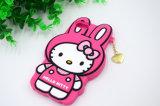 Caisse mignonne de silicones de Kitty de bonjour pour la couverture de téléphone cellulaire de l'iPhone 6s/6plus (XSK-012)