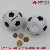 Caja plástica del ahorro de la moneda del balompié del globo creativo del baloncesto