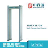 18 zonas doblan la puerta infrarroja del detector de metales del modo para la seguridad de la batería