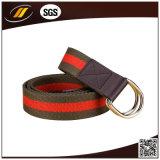 Correia tecida da cintura da faixa do homem ao ar livre da curvatura do anel dobro tela popular