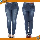 Novas calças de algodão de moda para senhoras Skinny Denim Jeans