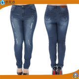 Neue Frauen-Form-Baumwolle keucht dünne Legging beiläufige Jeans