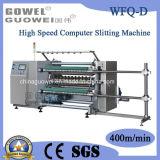 Controlado por ordenador de alta velocidad automático de rollo de máquina que raja