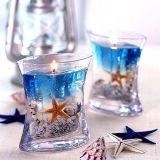 WeihnachtenSented Glasglas-Aroma-Geschenk-handgemachte natürliche gesunde Gel-Kerze