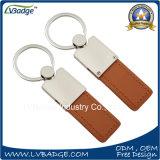 Metallo Keychain Keychain di cuoio del regalo di promozione con il marchio su ordinazione