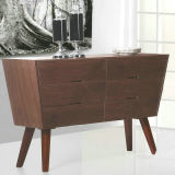 Weinlese HDF Dining Cabinet mit Solid Wood Leg (FH-5105)