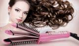 3 en 1 enderezadora del pelo y bigudí de pelo