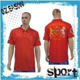 赤いカラー高品質メンズカスタムポロシャツ