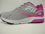 女性のパッチワークの若い様式の運動靴