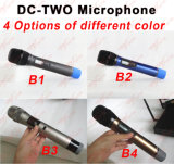 Gleichstrom-Zwei drahtloses Mikrofon-System PA-Mic