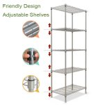 5層Light Duty Adjustable Metal Storage Rack (ホーム記憶のためのWS16-0039、)