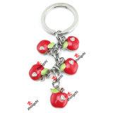 형식 주문 딸기 Apple는 매혹한다 과일 펜던트 Keychain (FPK50814)를