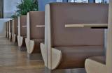 Disposizione dei posti a sedere di cuoio sintetica del sofà del ristorante